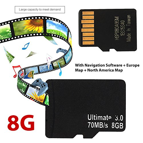Preisvergleich Produktbild Sedeta® 8G TF GPS Karte Kartenkarte EU Europa WINCE SYSTEM 800 * 480 SH + GPS Gerät Auto Player