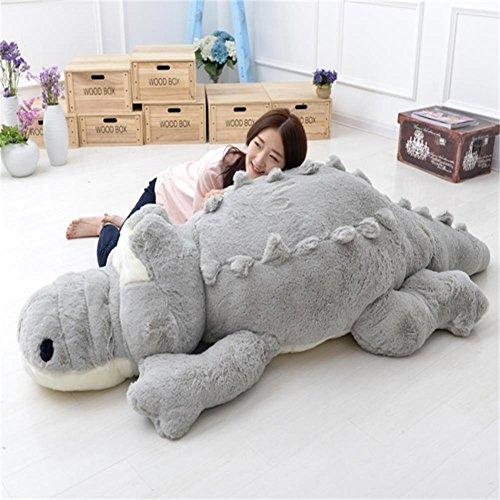 Riesen Teddy Bär Kostüm - YunNasi Flauschig Weiches Plüschtier Krokodil Ein Süßer Kuschelfreund (160cm, Grau)