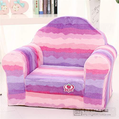 TOYSOFA Schaumstoff Kinder Sofa Sitz, Wave Cartoon offen Flip Schaum Kinder polsterstuhl Kleinkindmöbel Kinder Sessel Mit abnehmbarem Deckel für Wohnzimmer -lila 45x50cm(18x20inch) -