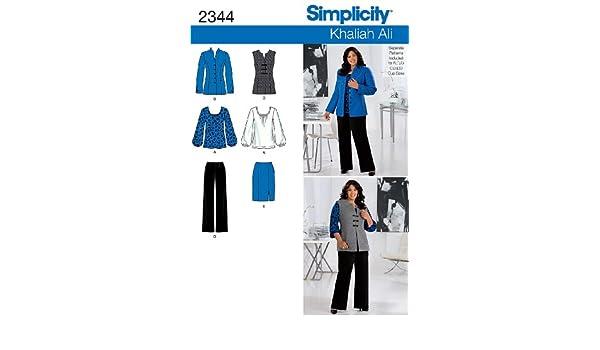 Simplicity Schnittmuster 2344 Damenbekleidung Gr. 40-48: Amazon.de ...