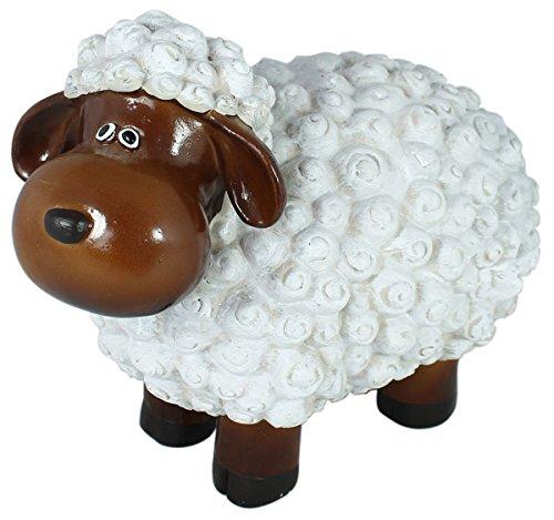 Drolliges Schaf Deko-Figur Tierfigur Wetterfest Handbemalt Gartenfigur