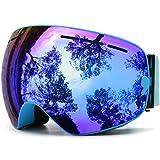 Skibrille Snowboardbrille Doppel Schicht Antifog Spherische UV Schutz Mit Abnehmbarem