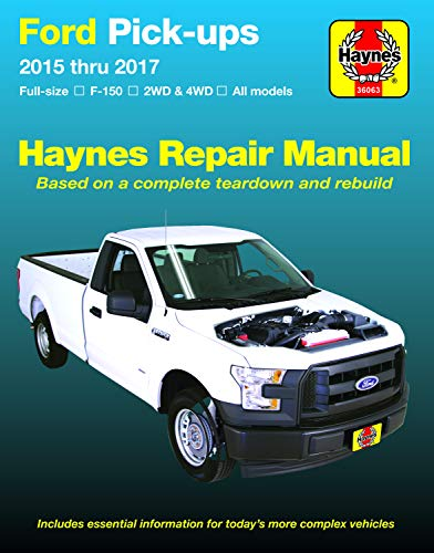 Ford F-150 Pick-Ups, 2015-'17 Haynes Repair Manual: Does Not Include F-250 or Super Duty Models (Haynes Automotive)