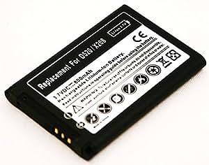 batterie pour Samsung SGH-B130 B300 B320 B520 C120 C130 C140 C260 C270 C300 D520 D730 E210 E250 E380 E500 E900 E1080 E1100 E1120 E1150 E1310 E2100 E2121 M150 M200 M310 S3030 S3110 S5150 Glamour X150 X160 X200 X210 X300 X500 X510 X520 X530 X630 GT-E1150 GT-E2550 (43446BE, AB463446BU, BST3108BEC/STD)