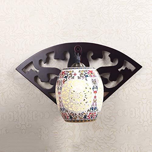 ZHYTX Lámpara de Pared China Moderna, Sala de Pasillo operada, habitación Individual,...
