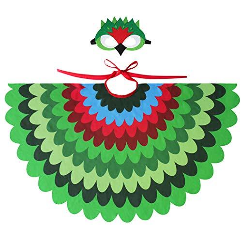 Joyibay Kindermantel Niedlicher Pfauenfeder Kostüm Mantel Halloween Cape Mit Party - Niedliche Kostüm Mit Masken