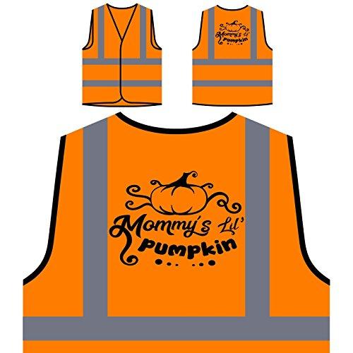 Mommys Lil Kürbis Personalisierte High Visibility Orange Sicherheitsjacke Weste t202vo