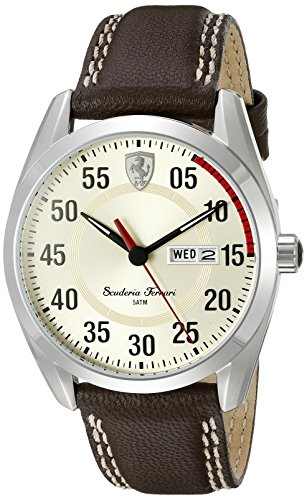 ferrari-mens-0830175-d-50-analog-display-quartz-brown-watch