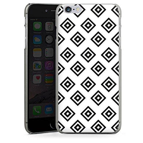 Apple iPhone X Silikon Hülle Case Schutzhülle Rauten Ethno Schwarz-Weiß Hard Case anthrazit-klar