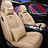 Coprisedile per auto, anteriore e posteriore Set completo per 5 sedili Coprisedile universale per auto, quattro stagioni Compatibile con airbag. (colore : Bianca)