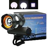 Luces Delanteras Bicicleta, Luces para Bicicletas Delantera, LED Luces de bicicleta recargables USB, Impermeable Luz delantera, 350lm, 3 modos de Iluminación, para Bici, Bicicleta MTB, Camping