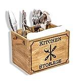 Besteckbox Holz Besteckkorb, Besteckkasten für Besteck Löffel Gabel Messer shabby-antik