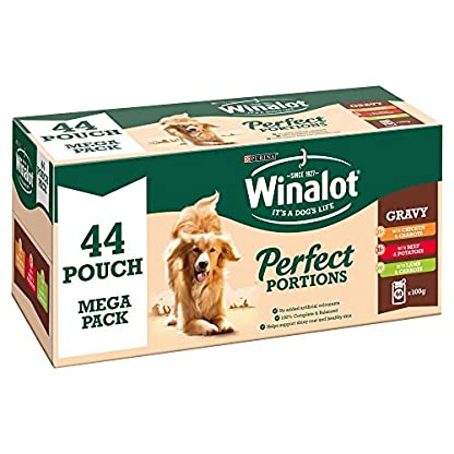 Winalot Perfect Portions Beef/Chicken/Lamb In Gravy, 44 x 100 g 1