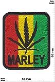 Patch - Bob MARLEY - Reggae - Musicpatch - Rock - Vest - Patches - Aufnäher Embleme Bügelbild Aufbügler