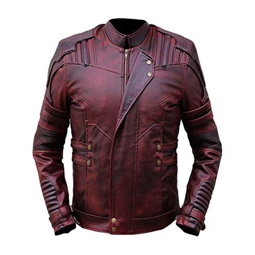 JNJ - Chaqueta - Chaqueta - para Hombre Rojo Rosso Medium