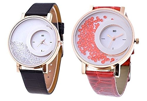 Bollywood Designer Analogue Digital Multicolor Dial Pack of 2 Watches for Women...