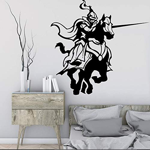 WWYJN Medieval Knights Fighting Game Horse Stickers Living Room Wall Decals, Home Decorative Arts Mural Wallpaper  42X60cm (2 Playstation Medieval)