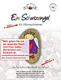 The Art of Stone EIN Schutzengel mit Wunschname Eindruck - Unikat - Glücksbringer Mutmacher Talisman