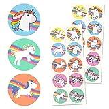 TownStix Einhorn Aufkleber Sticker Set - 10 Designs, 20 Blätter, 200 Stücke