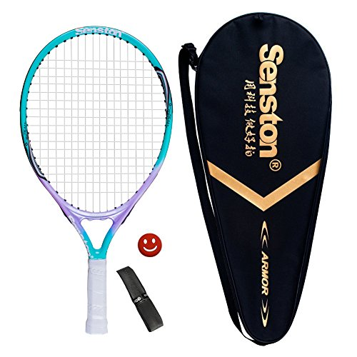 Senston Raqueta de tenis para niños,Para juegos en todas las áreas, Para niños de 2-4 años,Incluido Bolsa de Tenis / 1 grip / 1 Amortiguadores,Azul