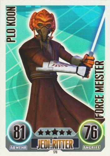 Star Wars Force Attax Einzelkarte 176 Plo Koon Jedi-Ritter Force Meister deutsch