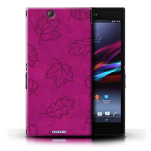 Kobalt® Imprimé Etui / Coque pour Sony Xperia Z Ultra / Rose conception / Série Motif Feuille/Effet Textile Rose