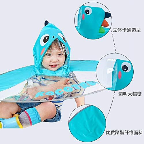 YongFeng UFO-Regenmantel Kinder Regenmantel Jungen und Mädchen Poncho Poncho Baby Regenschirm Mütze Kindergartenkinder Student Regen Mütze (Farbe : Lake Blue, größe : S(80-120cm))