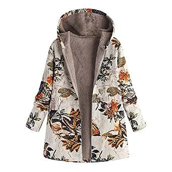 YanHoo Cappotto Donna Giacca Autunno-Inverno Donna Capispalla Casual Parka Cardigan Slim Coat Overcoat(Verde,XXXXXL)