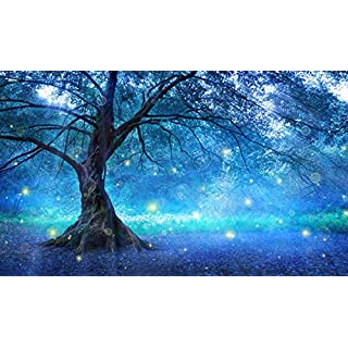 azutura Blue Fairy Tree Wall Mural Fairytale Forest Photo Wallpaper Girls Bedroom Decor available in 8 Sizes X-Large Digital
