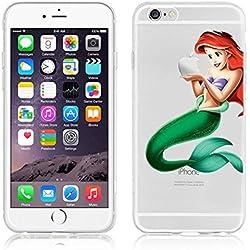Générique New Disney Princesses & Minions Transparent Coque Souple en TPU pour Apple iPhone 5, 5S, 5C, 6 &6S (iphone 6/6s, Ariel)