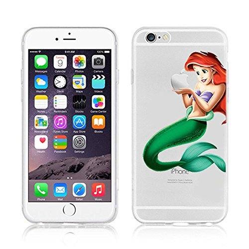 Générique New Disney Princesses & Minions Transparent Coque Souple en TPU pour Apple iPhone 5, 5S, 5C, 6 &6S (iphone 7plus / 8 Plus, Ariel)