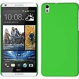 PhoneNatic Case für HTC Desire 816 Hülle grün gummiert Hard-case + 2 Schutzfolien