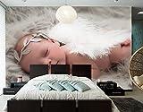 Yosot 3d Engel Säuglinge Schlafen Kinder Baby Foto Tapete Wohnzimmer Fernseher Sofa Wand Kinder Zimmer Restaurant Schöne Tapeten-350Cmx245Cm