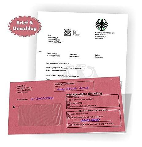 30 Briefe mit Umschlag Einladungen Geburtstag Feier Party Prüfung Silvester Firmenfeier uvm.