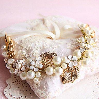 MJW&G Women's / Flower Girl's Crystal / Brass / Imitation Pearl Headpiece-Wedding / Special Occasion / Outdoor Wreaths 1 Piece ,
