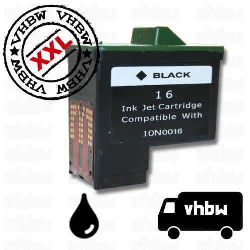 vhbw Druckerpatrone Tintenpatrone schwarz mit Chip für Lexmark z612, z614, z615, z617, z640, z645, z717, z817 wie Lexmark 16, 17, 10N0016, 10N0217. -