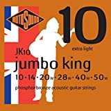 Rotosound CRS JK10 Jumbo King Jeu de Cordes filé en Bronze phosphoreux pour Guitare acoustique 10-14-20-28-40-50