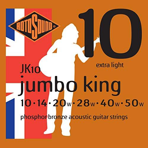 RotoSound Jumboking JK10, Phosphor Bronze (010-050) (Jumbo-akustik-gitarre Bei)