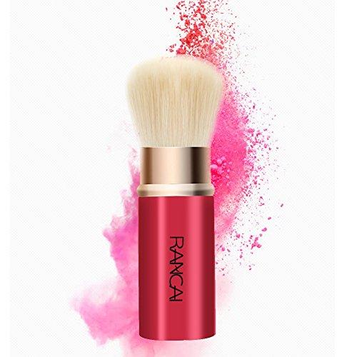 WEICICI Pinceau Maquillage Télescopique Pinceau Pour Poudre Fard à Jouespoudre Libre Fixateur Brosse Rétractable Brosse Rouge Poil Doux