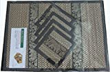 Thai Hand Made Reed place mat & coaster set for 4 people in BLACK
