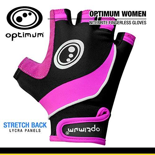 OPTIMUM Nitebrite Mitaines de vélo pour Femmes