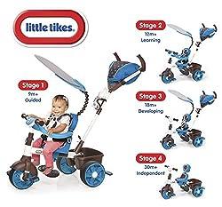 little tikes 634352E4 - 4-in-1 Sports Edition Trike, blau/weiß