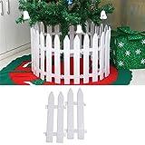 Gorgebuy 5 PCS recinzione in plastica bianca Natale Decorazione in legno di Natale Giardino in miniatura immagine