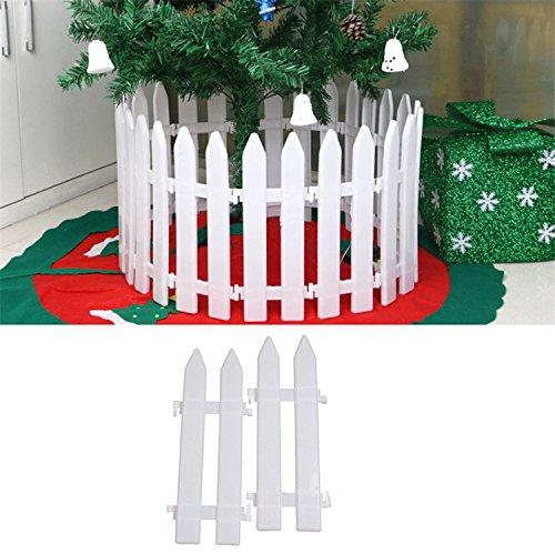Gorgebuy 5 PCS recinzione in plastica bianca Natale Decorazione in legno di Natale Giardino in miniatura