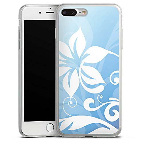 Apple iPhone X Slim Case Silikon Hülle Schutzhülle Blume Ornament Floral Silikon Slim Case transparent