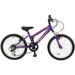 "Falcon violeta Niñas 20""rueda de suspensión delantera para bicicleta de montaña"