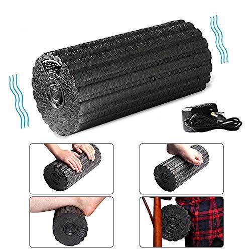 Dr.fitness elettrico foam roller 4 velocità ricaricabile rullo di schiuma per l'auto massaggio con rilascio miofasciale deep sollievo dal dolore nelle corpo ideale per stretching yoga pilates