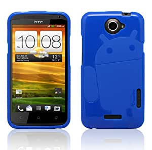 Solid Blue Cruzerlite Androidified A2 TPU Case - For HTC One X (International Version Only) ** Not Compatible ATT ONE XL**