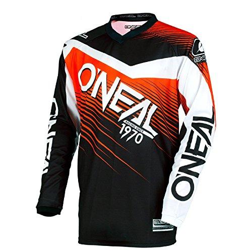 O\'Neal Element Racewear Motocross Kinder Jersey Trikot MX Enduro Offroad Motorrad Quad Cross Youth, 0006, Farbe Orange, Größe L