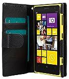 Melkco 4895158698270 Mappen-Buch Typ PU Mini Kunstleder Tasche für Nokia Lumia 1020 schwarz